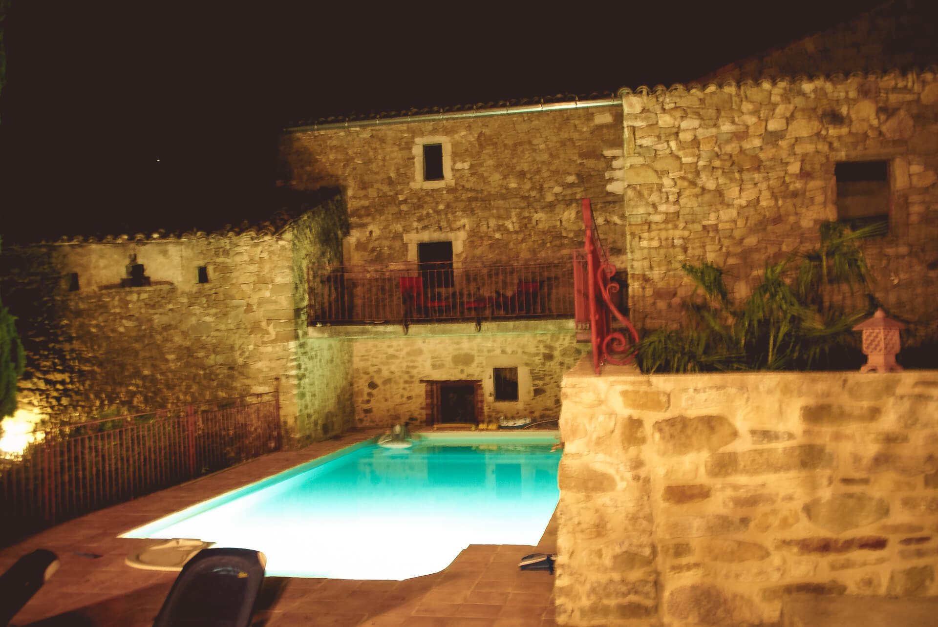 Notre piscine, avec nage à contre courant au Gîtes Roche Colombe - Soyans 26400, Drôme