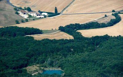 Vue depuis Roche Colombe - Drôme